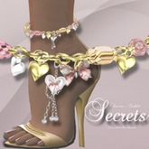 007a-The Secrets Anklet Gold/Silver/Pink(BOXED)-Jewelry by Jake**