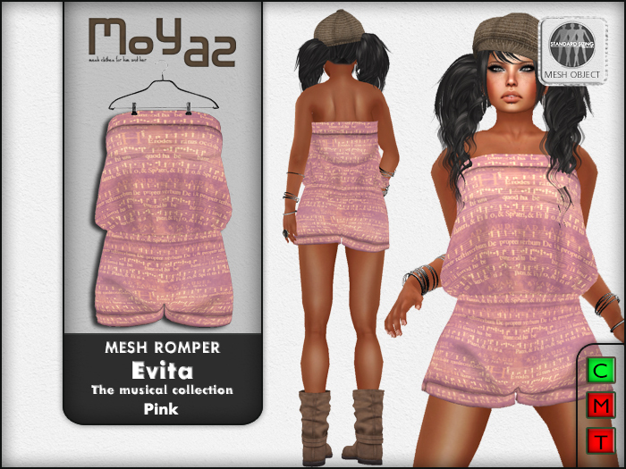 Evita Mesh Romper ~ The musical collection - Pink