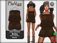 Evita Mesh Romper ~ Basic collection - Brown