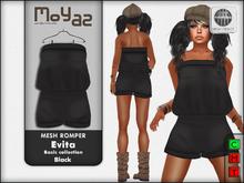 Evita Mesh Romper ~ Basic collection - Black