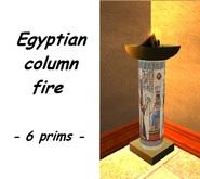 Egyptian Column Fire