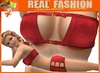 """""""Wild"""" top and skirt set - Red / Mesh"""