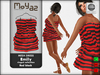 Emily mesh dress ~ Ringed collection - Black red