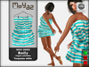 Emily mesh dress ~ Ringed collection - White turquoise