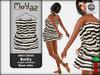 Emily mesh dress ~ Ringed collection - White black