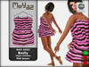 Emily mesh dress ~ Ringed collection - Pink brown