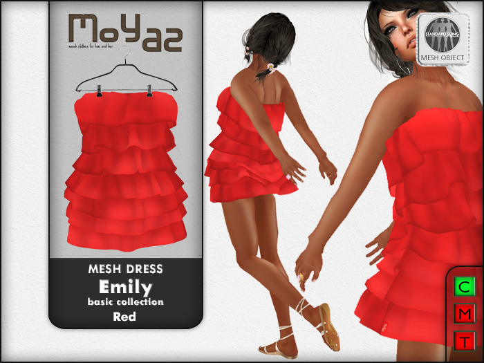 Emily mesh dress ~ Basic collection - Red