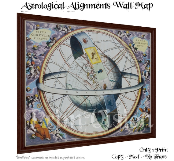 *PV* Astrological Alignments Wall Map