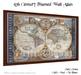 *PV* 17th Century Framed Wall Atlas