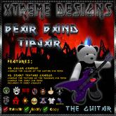 Rocker Teddy TipJar - Guitar