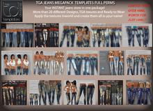 TD TEMPLATES TGA Jeans Megapack Templates - FULL PERMS