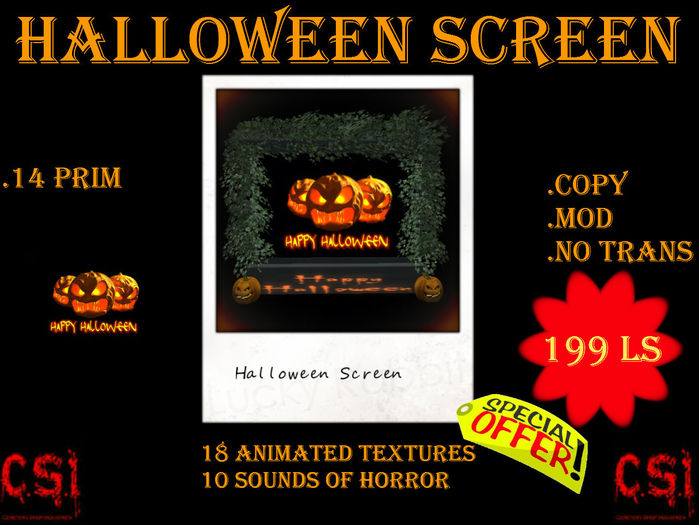 Halloween Screen (box)