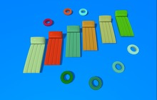 "1 prim ""Floating Air Mattress"" with sunbath lay pose, rotation and random colors (mod, copy)"
