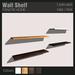 :FANATIK HOME: Wall Shelf - low prim mesh display shelf