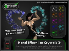●GD● Hand Effect 'Ice Crystals 2' [Multi Color, Type/Walk/Fly/Dance] Customizable Dancing Particle Hands Emitter Effect