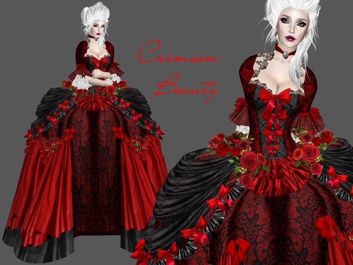 Boudoir -Crimson Beauty Baroque Gown