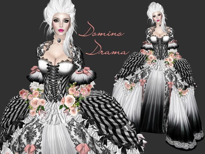 Boudoir -Domino Drama Baroque Gown