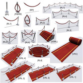 VIP Red Carpet /Barrier Rope/stair/stage 1 impact each