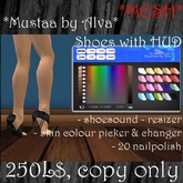 *Mustaa by Alva* Shoes *MESH*, Dollarbie