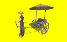 """23 prim """"Rickshaw Frontier Civilization"""" public version, any texture (mod, copy)"""