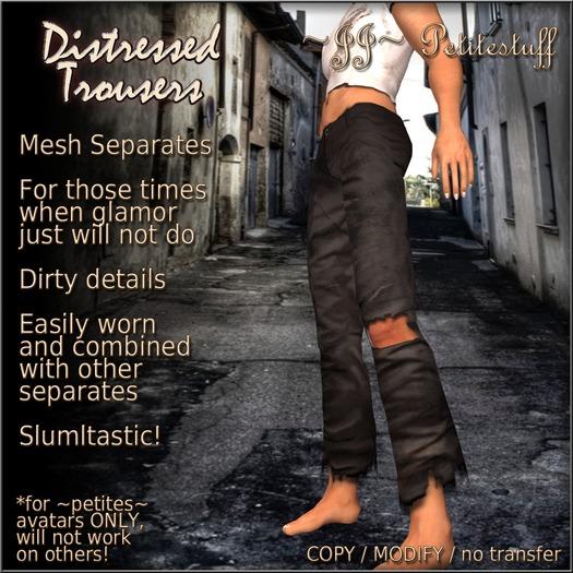 ~JJ~ Petitestuff Distressed Trousers