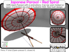 Japanese Parasol - Red Spiral with 6 Animations Chat and HUD control!