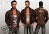 Opium Mesh Male Leather Jacket DEMO (copy/boxed/wear me)