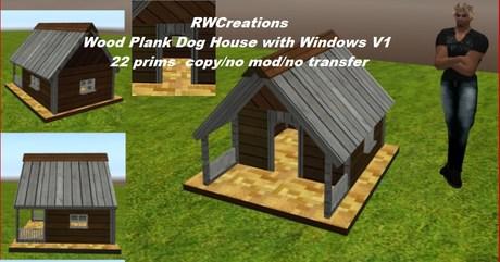 Wood Plank Dog House