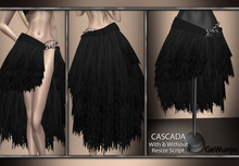 GeWunjo : CASCADA black skirt