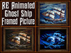 RE Animated Ghost Ship Framed Picture - Haunted House & Mansion Decoration/Decor