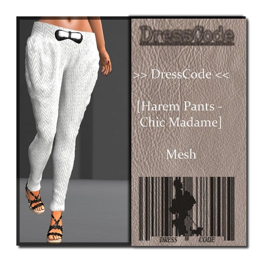 >> DressCode << [Harem Pants Chic Madame]