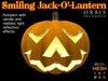 Smiling Halloween Pumpkin Jack-O'-Lantern - Mesh