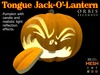 Tongue Halloween Pumpkin Jack-O'-Lantern - Mesh