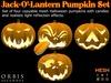 Halloween Pumpkin Jack-O'-Lantern Set - Mesh