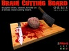 Brain cutting board halloween second life