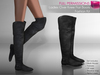 %50SUMMERSALE Full Perm Rigged Mesh Ladies Over Knee Flat Boots - Fashion Kit