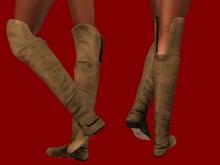 ::JIM:: Demo Mesh Ladies Over Knee Flat Boots - 7 Textures