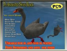 Ps Black Swan Animated Free Swimming Sculpty Bird Animal