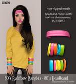 Izzie's - 80's Rainbow Bangles + 80's Headband
