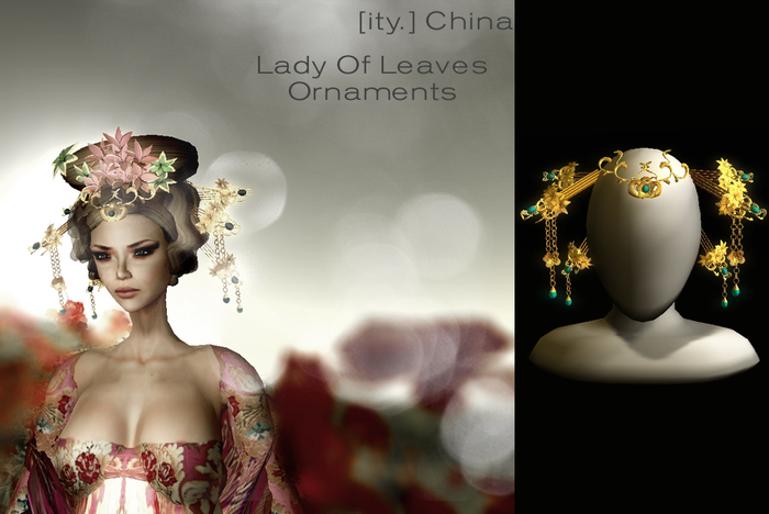 [ity.] China - Lady of Leaves Ornaments