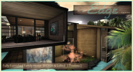 ::Edge:: Fully Furnished, 7 Room Home - Bi-Level & Lofted - Edgy, Modern Design - Full decor & animations throughout!