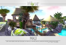 MAUI Multianimated full furnished tiki house with isle & sea 300+ anims!