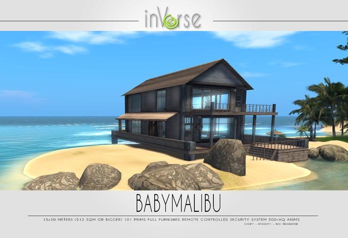 BABYMALIBU - full furnished ocean cottage 500+anims