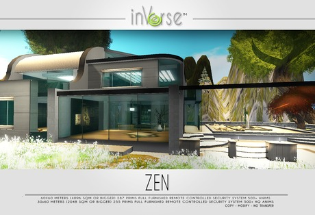 ZEN -contemporary full furnished japanese inspired house skybox - over 500 anims!