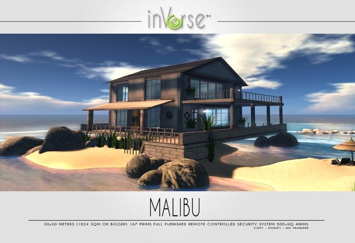 inVerse® - MALIBU - full furnished ocean cottage 500+anims