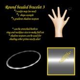 Round Beaded Bracelet 3 sculpty boxed