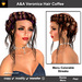 A&A Veronica Hair Coffee (Special Color). Updo with intricate braids and flexi curls