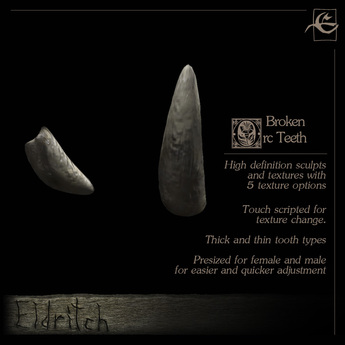 .Eldritch. Orc Teeth - Broken