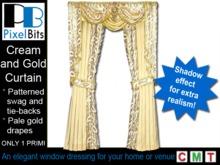 Pale Gold Curtain - 1 prim