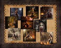 MM   ☠ Bewitched ☠  10 witches  full perm deco textures HD